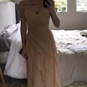 Zimmerman maxi silk strapless peach dress Sz 1